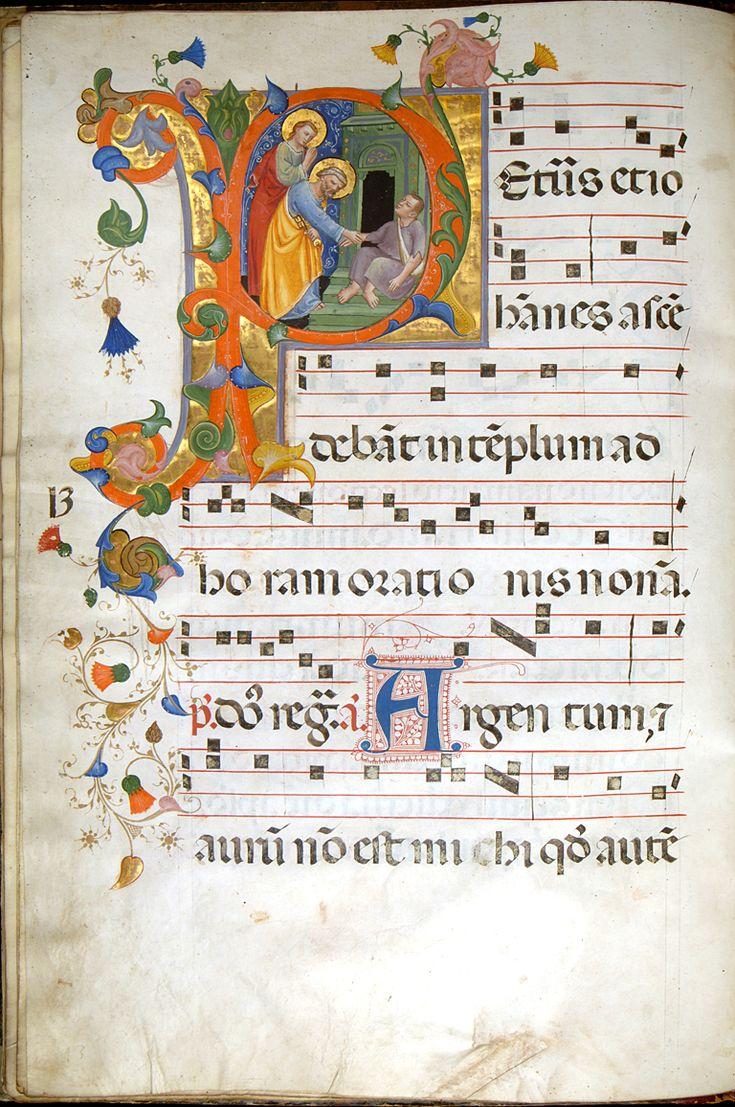 manuscrit leaf from antiphonary - Recherche Google