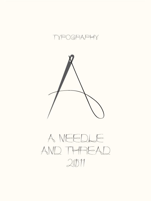 A Needle and Thread: Type experiment by graphic designer Kim