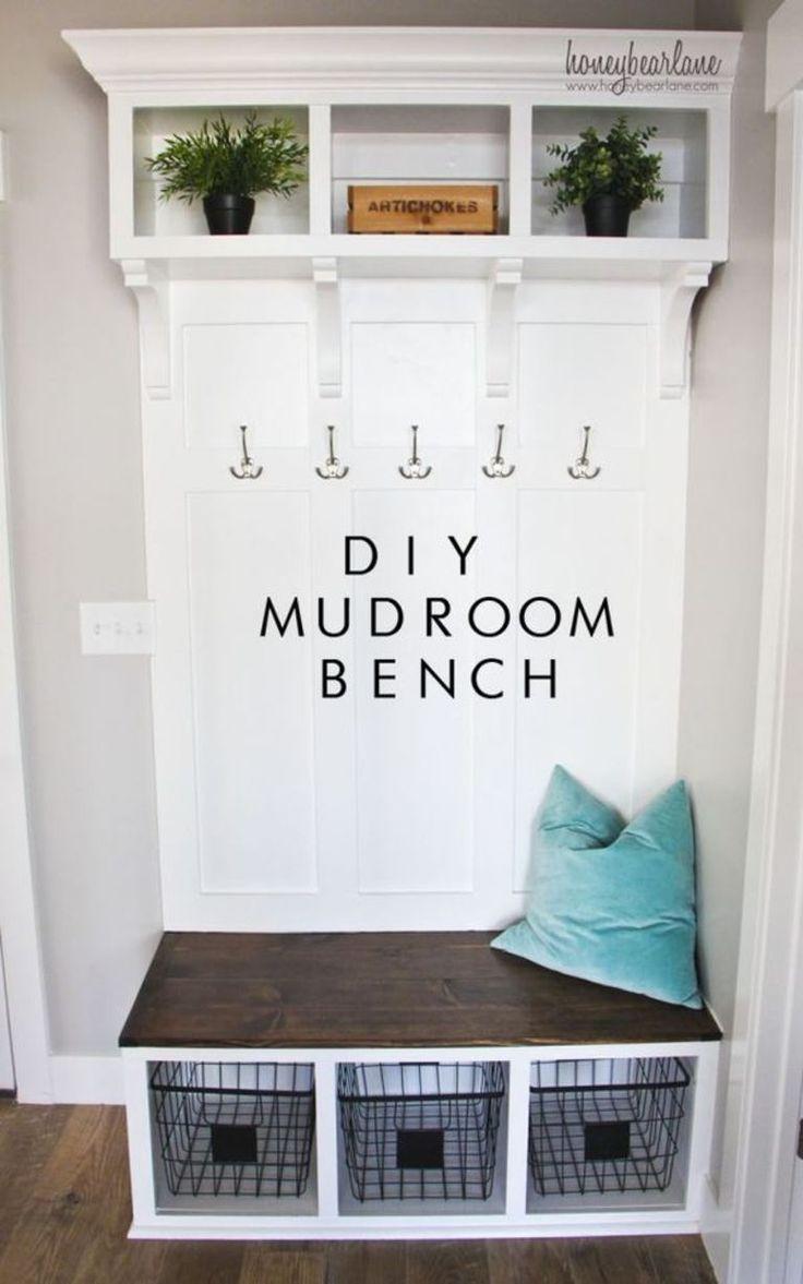 diy mudroom bench diy ideas mudroom room house rh pinterest com