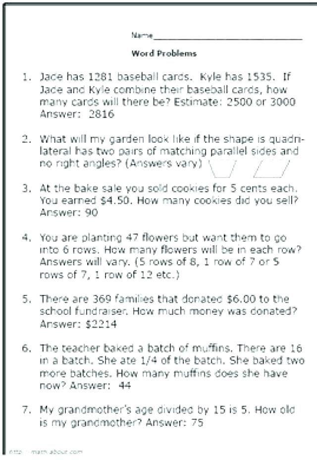 25 Multiplication Word Problems Grade 5 Pdf Dividing Fraction Word