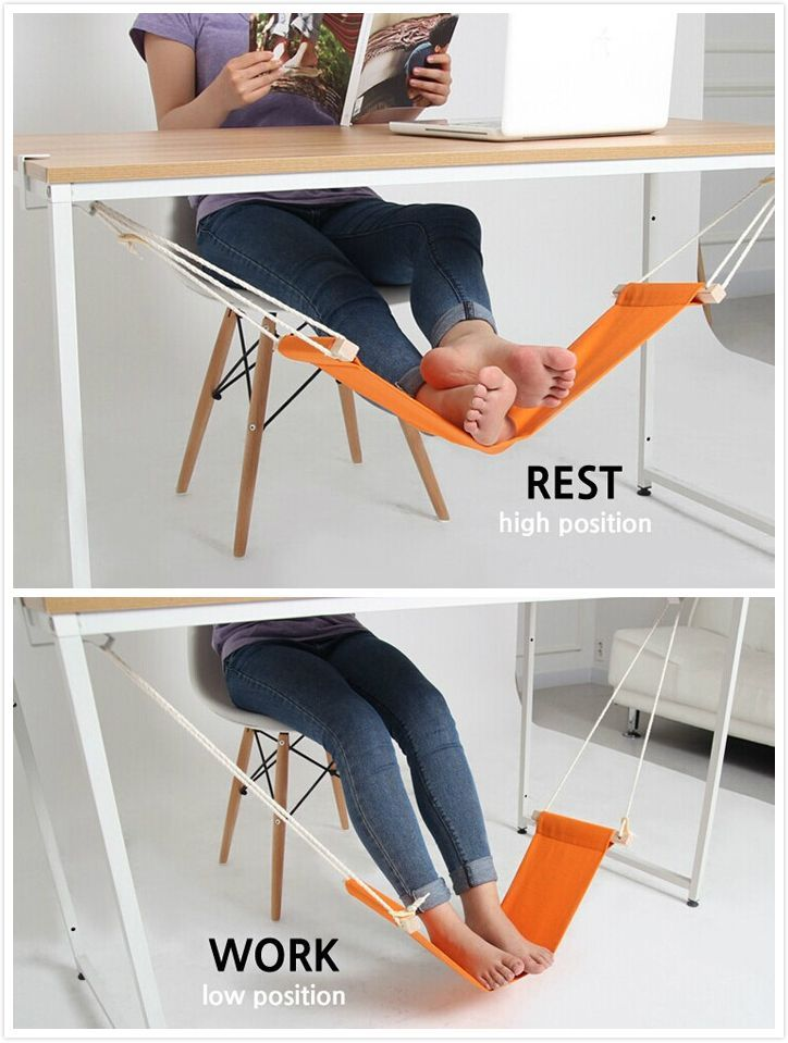 OMG! Need this ::: a unique hammock design replacing that extra chair you use to prop your feet up