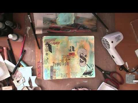 Art Journaling Mixed Media: Typography - YouTube