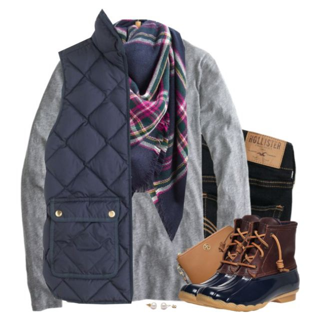 Navy, gray & plaid
