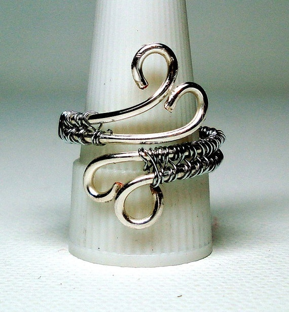 Silver Swirl Ring by ButterflyCreekJewels on Etsy, $20.00 tclaney
