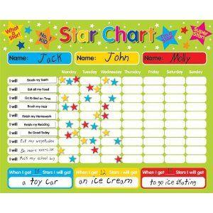 magnetic reward star responsibility behavior chart