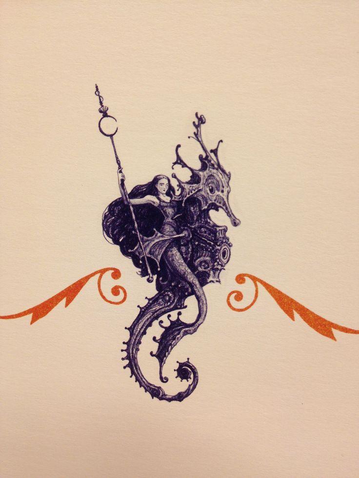 mermaid warrior drawing by William Joyce