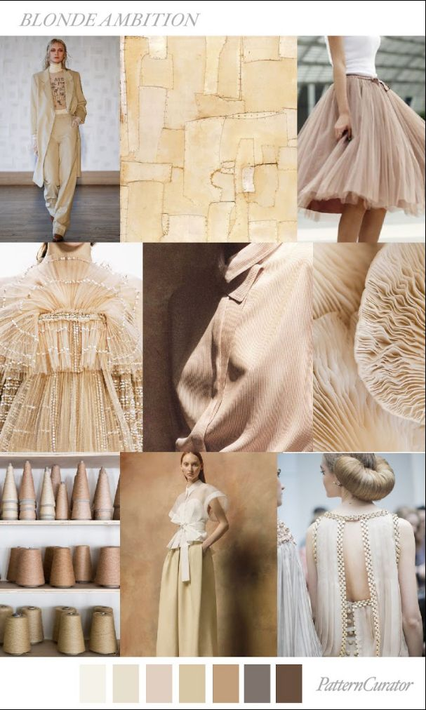 S/S 2018 colour trend - nudes ans neutrals for womenswear