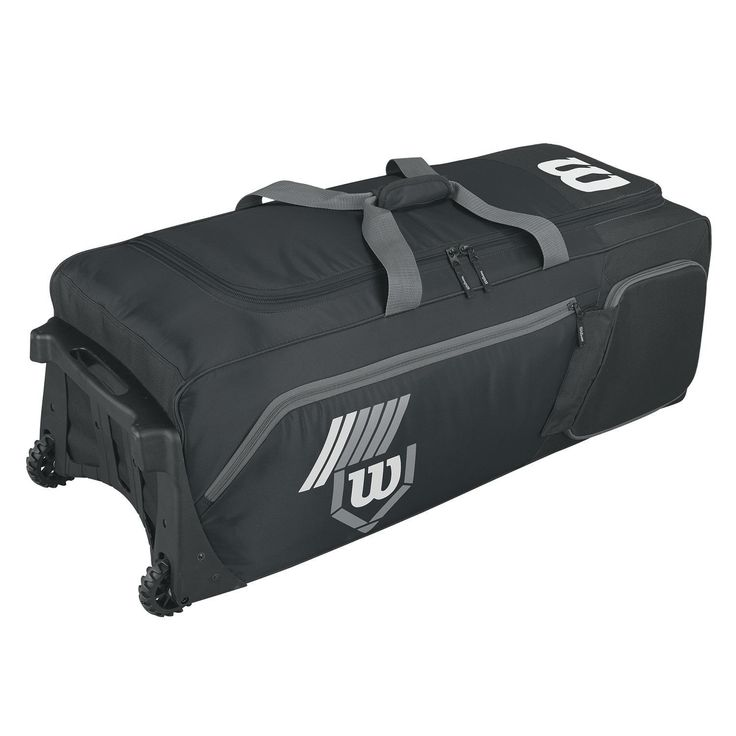 Wilson Pudge 2.0 Baseball Bag on Wheels-Black