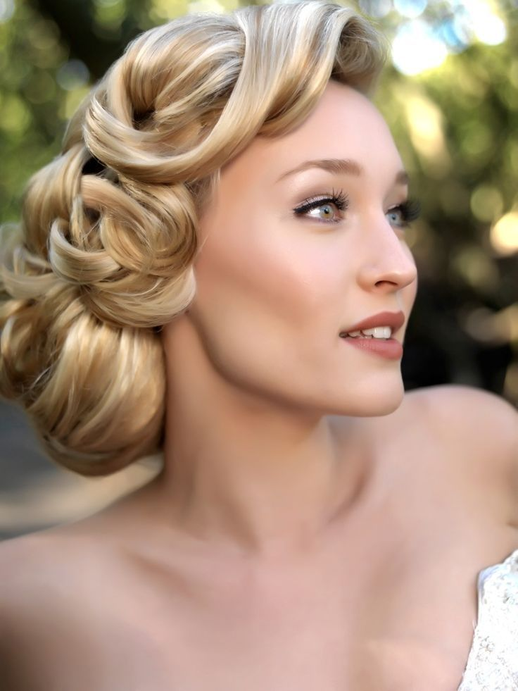 Old Hollywood Wedding Hairstyle Inspiration