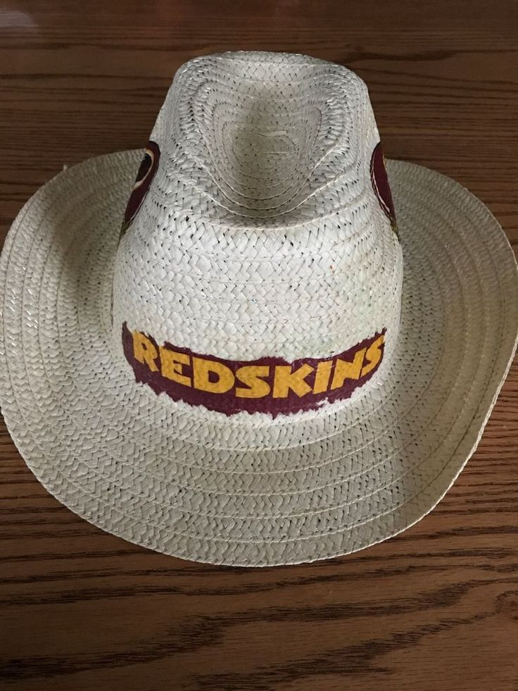 Washington Redskins Straw Hat Redskins Hat Redskins Straw Hat Hand Decorated  #Handmade #WashingtonRedskins