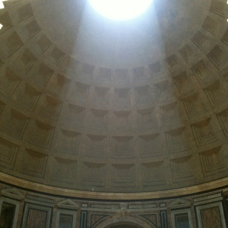 Summer solstice inside the Pantheon Rome.