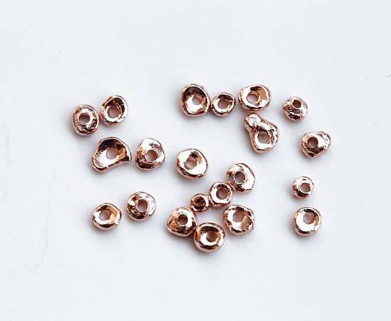 2971 Rose gold Karen hill 3 4 mm Vermeil beads Gold plated