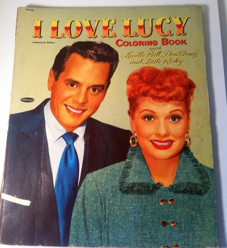 Vintage 1954 I Love Lucy Coloring Book