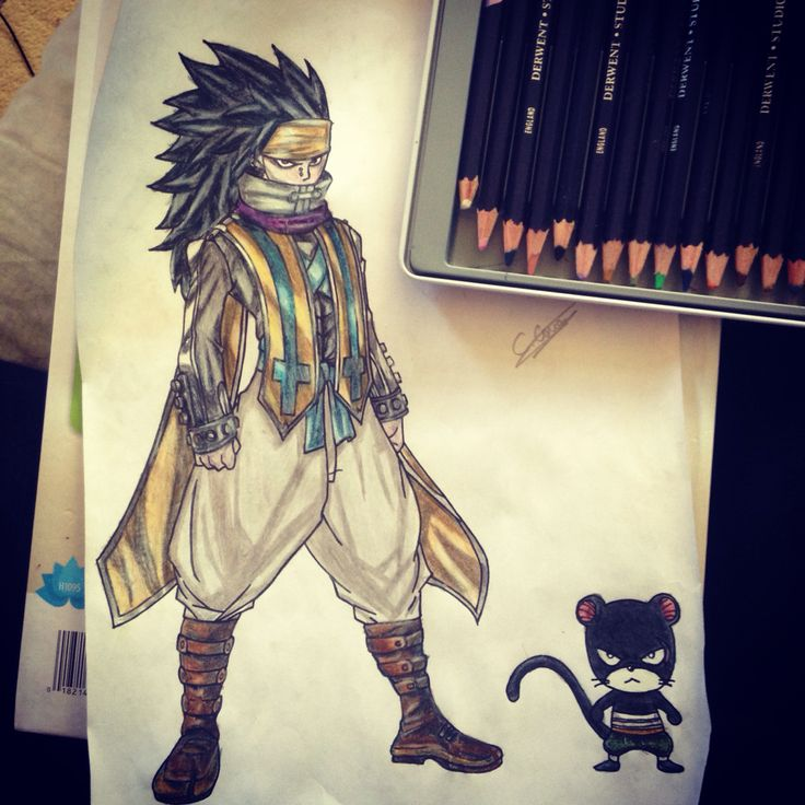 My Gajeel and Lily all finished :)