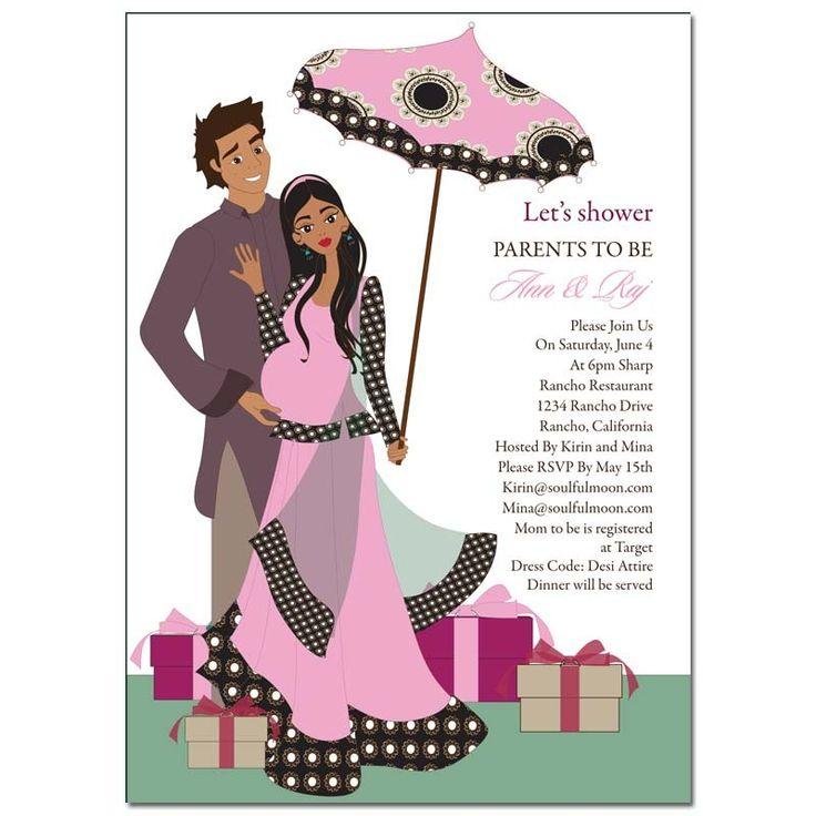 8 best baby shower images on pinterest baby shower invitations indian baby shower invitations desi umbrella stopboris Images