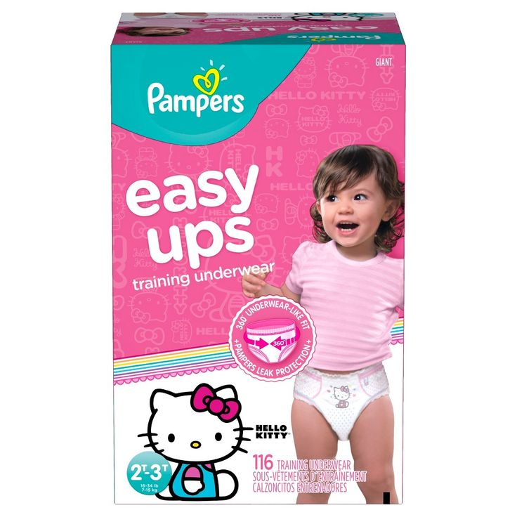 Pampers Easy Ups Girls Training Pants Giant Pack 2T-3T (116 ct)