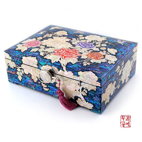 한국전통공예품의 감동 두레아트 만개목단 호접 타발 보석함