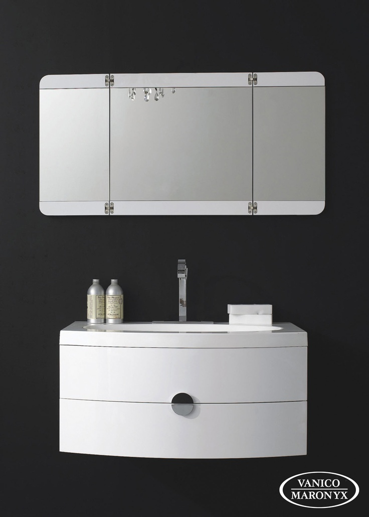Mobilier de salle de bain TERZETTO de la SÉRIE EXPRESS - VANICO MARONYX. Disponible chez Montréal - Les - Bains