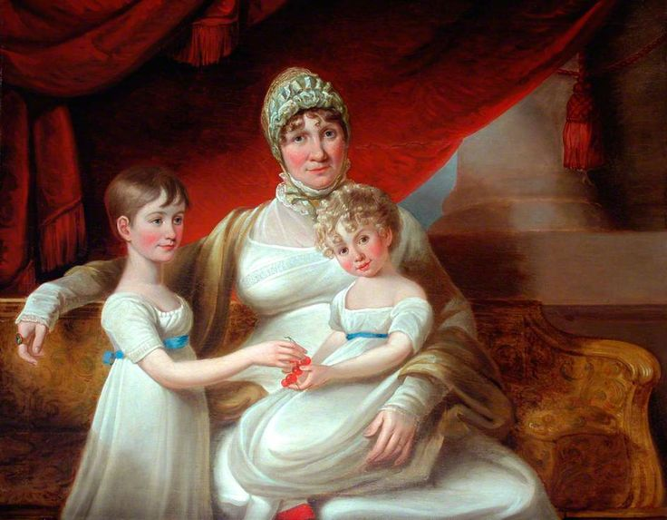 Mary Phoebe Spencer Nelson Taylor and Daughters (1776–1847) by John Russell (after). Date painted: c.1812. National Trust.: