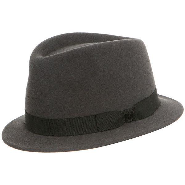 Maison Michel charcoal felt Sean hat found on Polyvore
