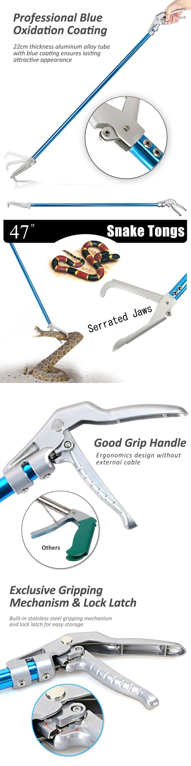 Reptile Supplies 1285: Fnova 47 Inch Professional Standard Snake Tong Reptile Grabber Rattle Catcher -> BUY IT NOW ONLY: $43.8 on eBay!