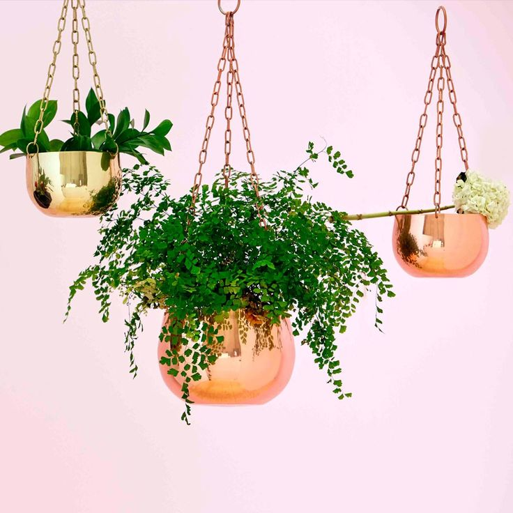 Small Copper Hanging Planter | New Arrivals | Homeware - Me and My Trend