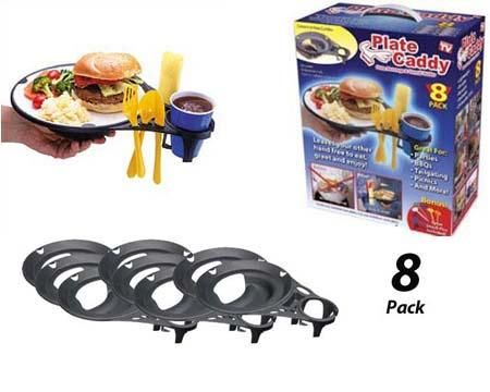 Picnic Plate Caddy- Set of 8
