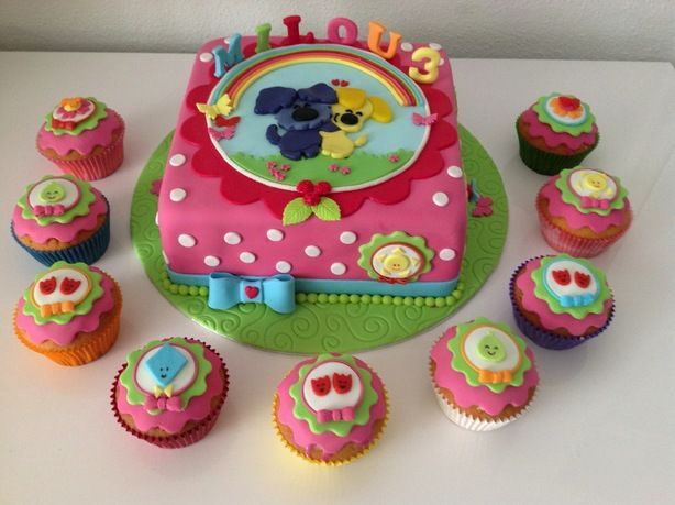 als ik deze taart toch eens kan maken...wie weet hoe ik aan woezel en pip kom