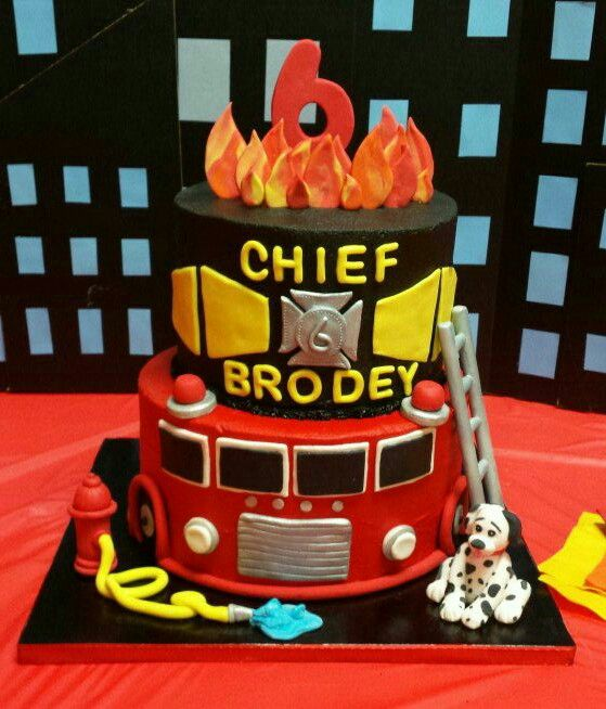 Firefighter Birthday Cakes, Firefighter Birthday