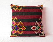 20x20 kilim pillow 20x20 large pillow cover large kilim rug pillow kilim pillow cover throw pillow outdoor throw pillow sofa red black gold