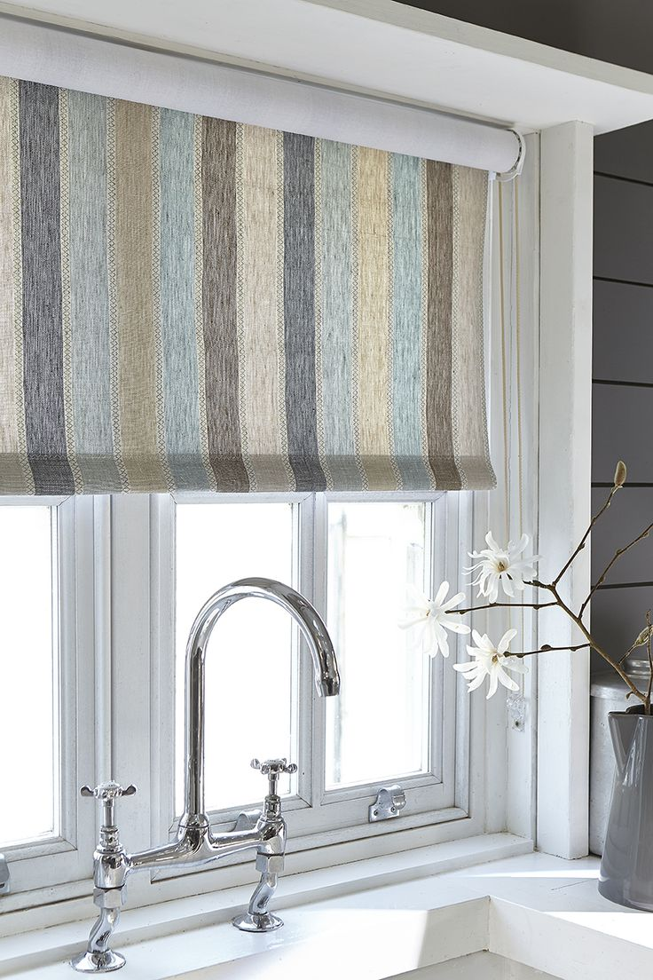 Window Curtain Design Ideas: Blind Fabric Vanessa Arbuthnott 'Scandi Stripe'