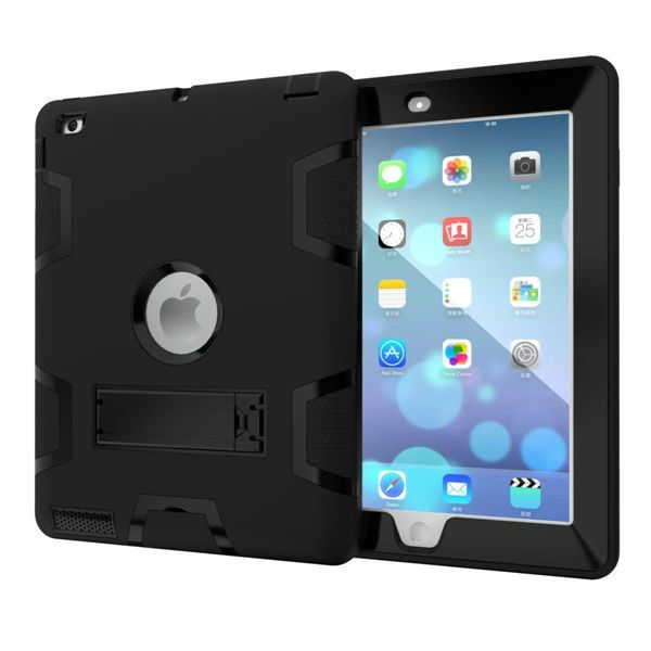 WES For Apple iPad2 iPad3 iPad4 Kids Safe Armor Shockproof Heavy Duty Silicon+PC Stand Back Case Cover For ipad 2 3 4 Tablet PC