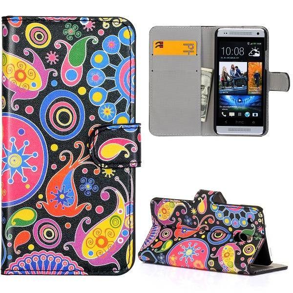 Kleurrijk booktype hoesje voor de HTC One mini