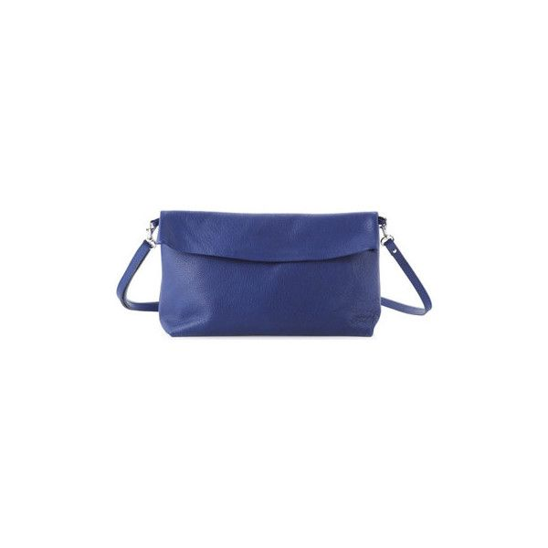 Ripauste By Paul Stephan Clutch bag JENNY Navy blue Clutch Bag ($81) ❤ liked on Polyvore featuring bags, handbags, clutches, blue purse, blue handbags, navy blue purse, navy purse and navy clutches