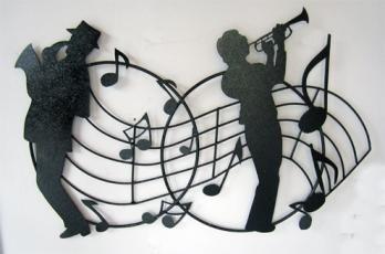 Aplique Musicos Pentagrama 50 cm w x 40 cm h $120.000