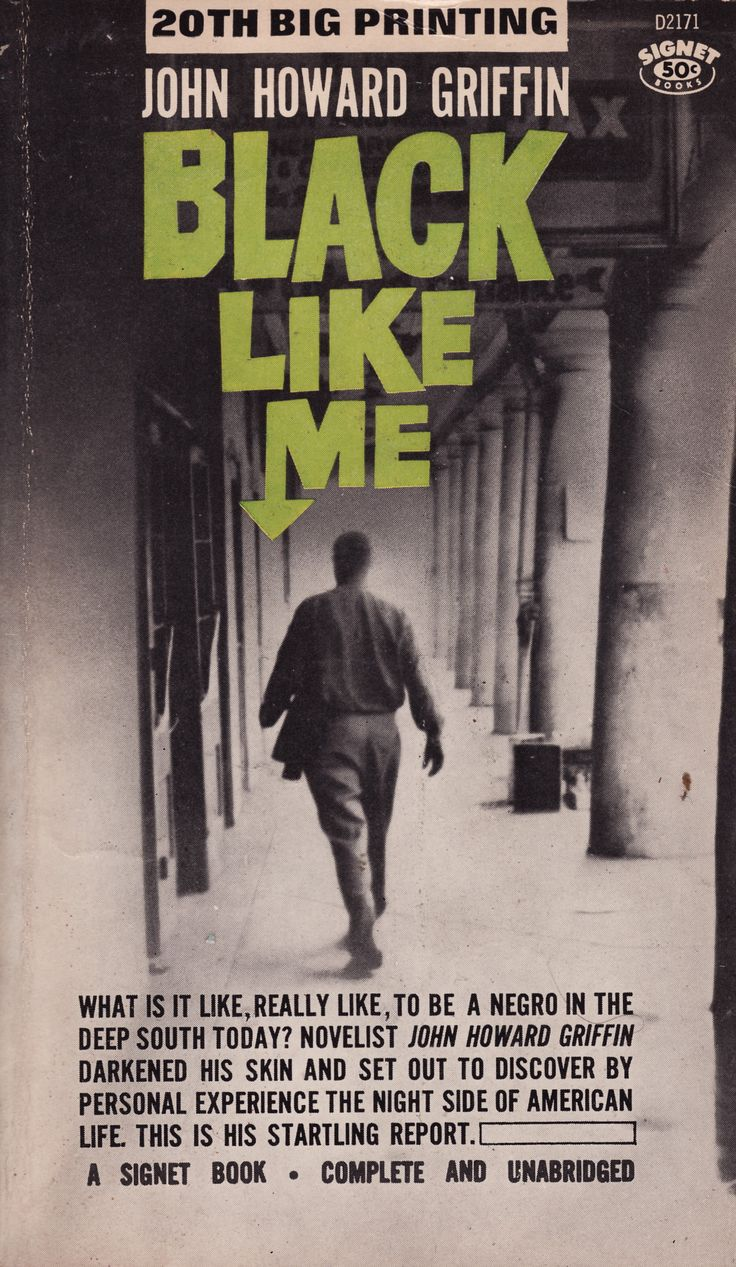 black like me by john howard For twenty-one days in 1959, john howard griffin, a white journalist and novelist  from texas, moved through the deep south as black man.