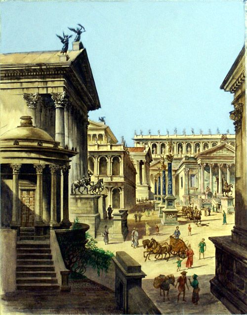 Ancient Rome, the Forum (Original) art by Peter Jackson Archive