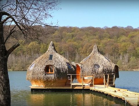 Boutique Hotels - Cabanes des Grands Lacs: Floating Lake Cabins in France - Busyboo