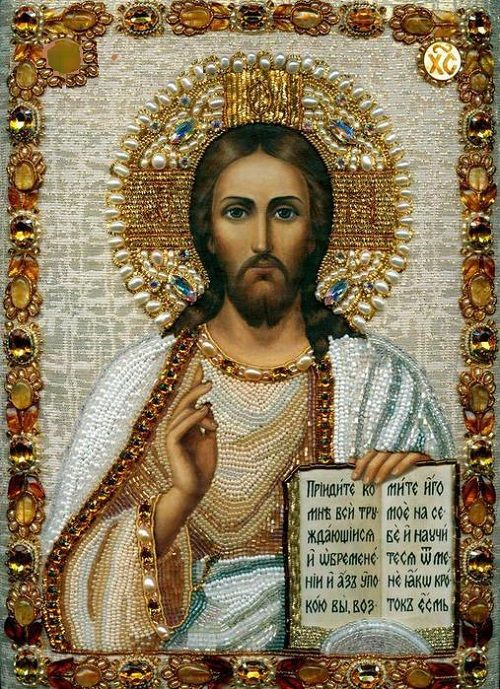 Lord Jesus Christ, Son of God, have mercy on me, a sinner.  (Icon by Maria Yantovskay)