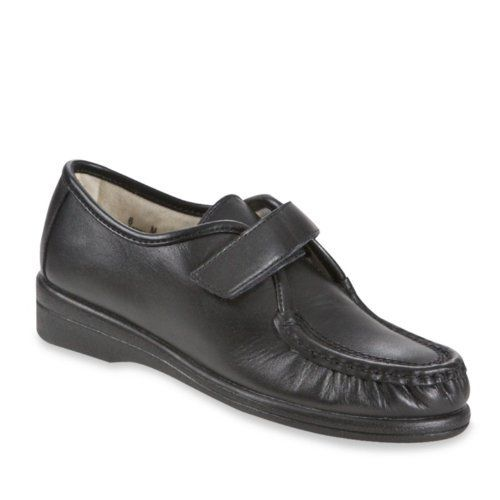 Softspots Angie Moc Toe Strap Casual Shoes Womens Black Wholesale Australia