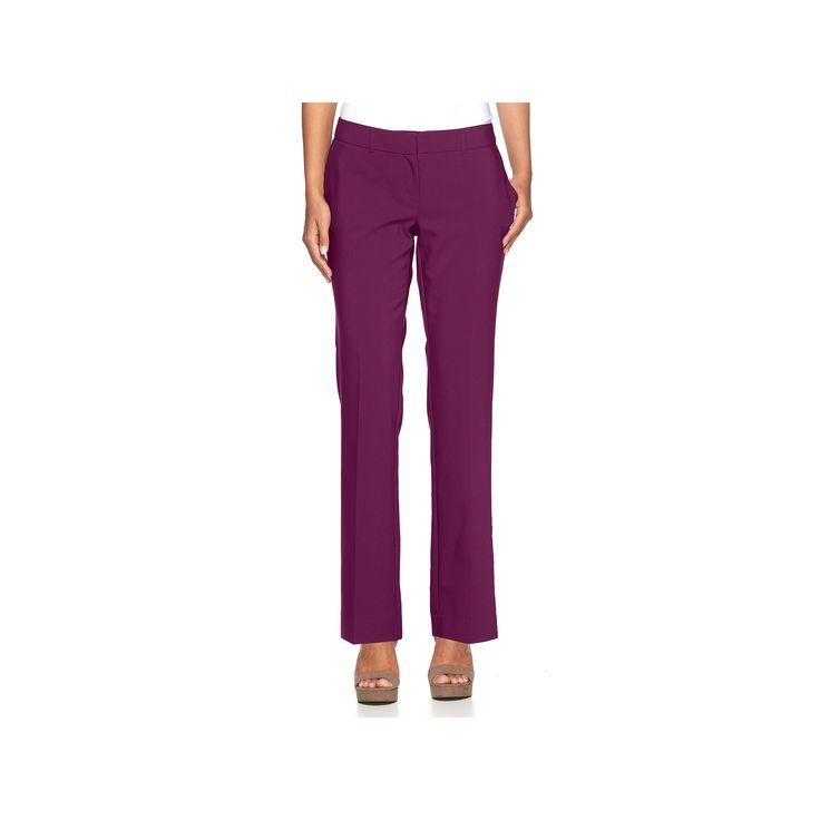 Women's Apt. 9® Torie Curvy Fit Dress Pants, Size: 16 Short, Drk Purple