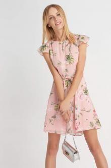 Sukienka z egzotycznym wzorem