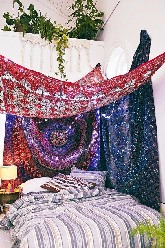 17 meilleures id es propos de chambre hippie sur pinterest d cor hippie pour chambre salle. Black Bedroom Furniture Sets. Home Design Ideas