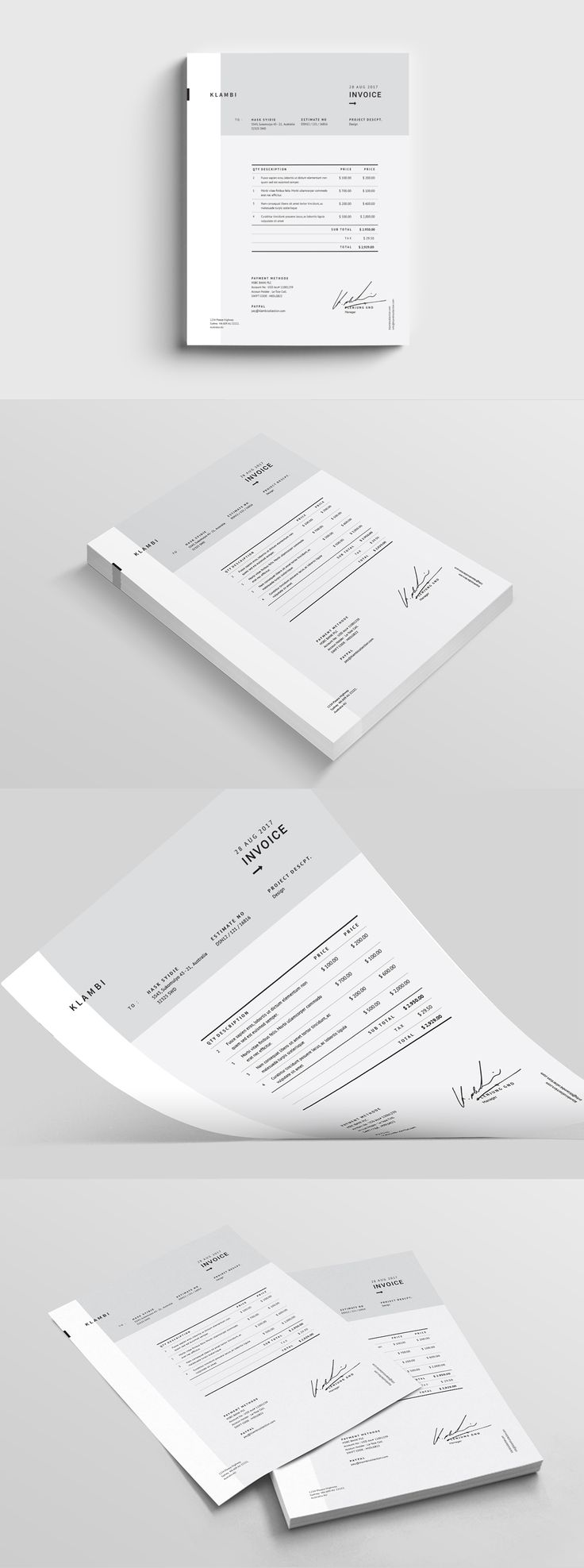 best ideas about invoice template invoice design fashion invoice template indesign indd