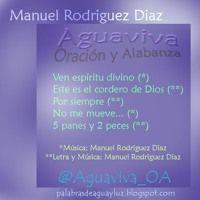 Aguaviva - Oración y Alabanza by Manuel Rodriguez Diaz on SoundCloud