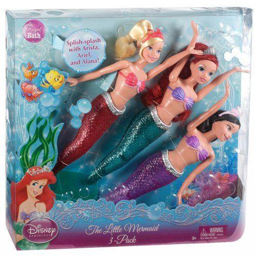 Disney Princess The Little Mermaid Doll 3-Pack Disney,http://www.amazon.com/dp/B005JZA132/ref=cm_sw_r_pi_dp_yddVsb1PDBK3JG4N