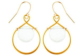 Aqua Infinity Earrings Wallin & Buerkle