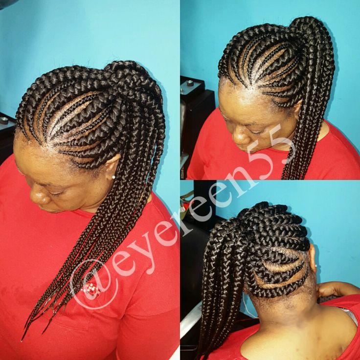 9 ghana braids