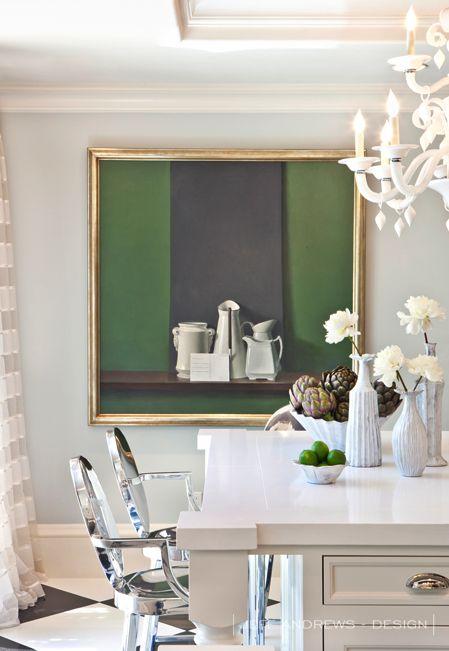 Jeff Andrews Design Kris Jenner Kitchen with VIETRI