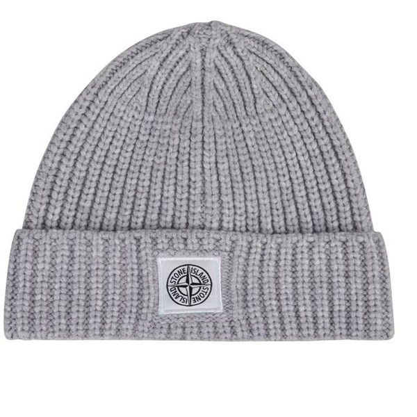 Stone Island Childrens Boy Ribbed Beanie (£55) ❤ liked on Polyvore featuring accessories, hats, dust, stone island, beanie cap hat, stone island hat, cotton beanie and cotton hats